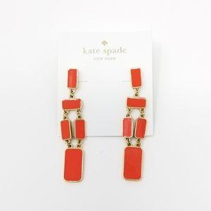 Kate Spade Long Orange Stone Earrings
